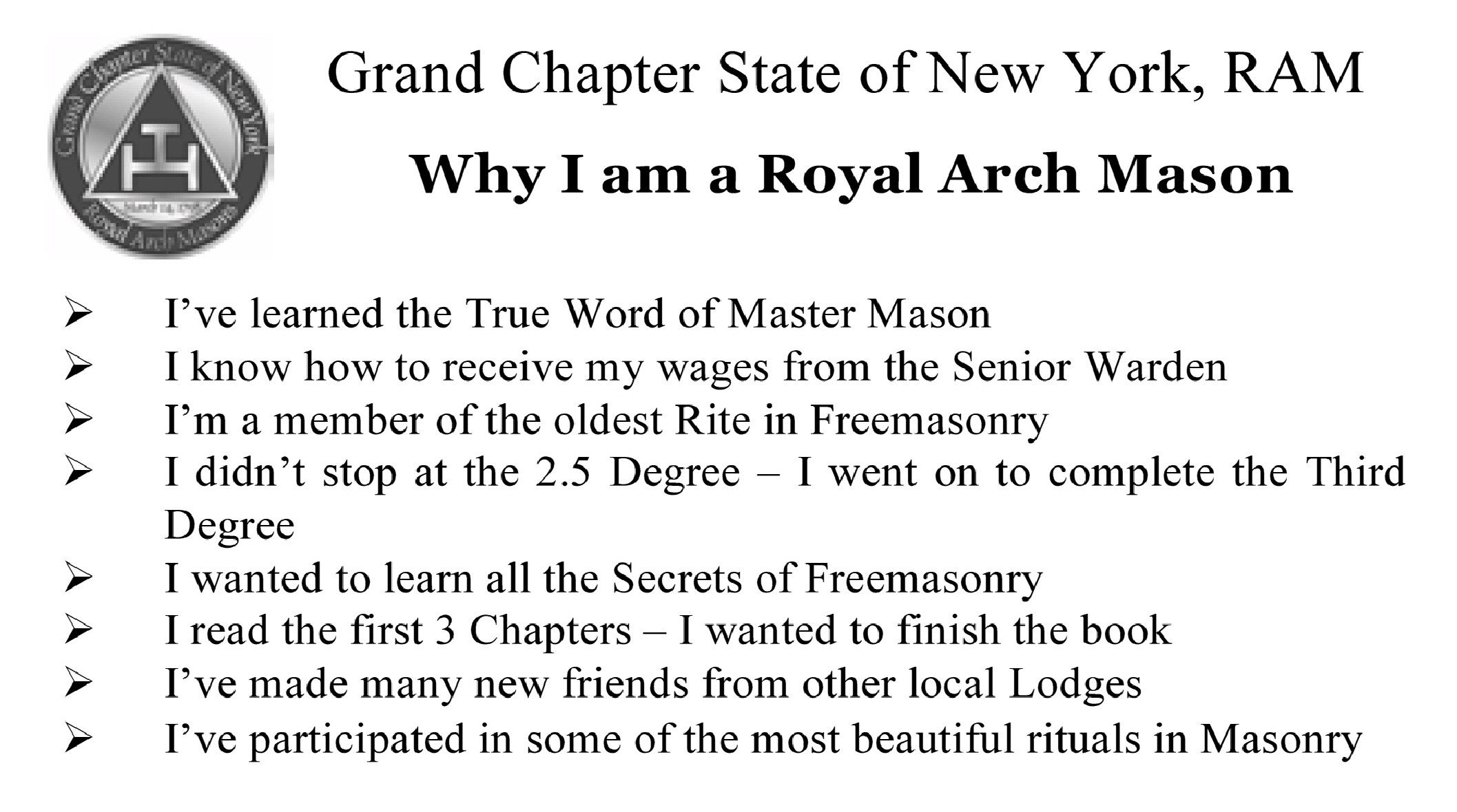 Royal Arch Education - Royal Arch Masons