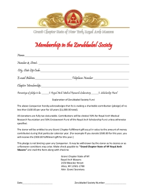 Zerubbabel Society Form